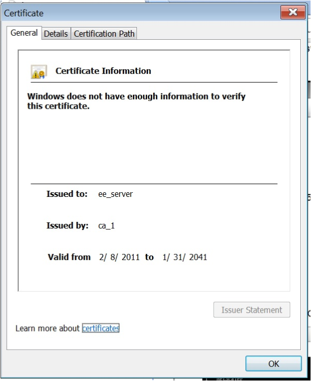 Install certificate key using LOM step 9