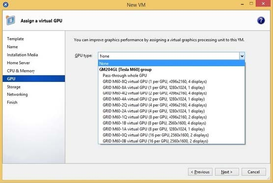 Create vGPU enabled VMs