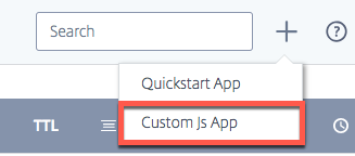 Add Custom JS App