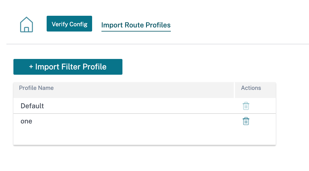 Import route profiles