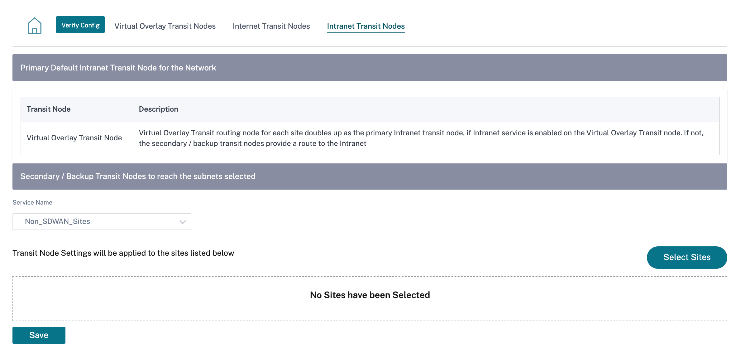 Intranet Transit Node