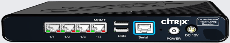 SD-WAN 110-SE back panel