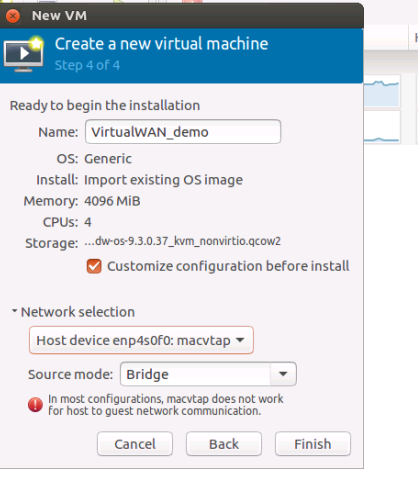 New VM disk space