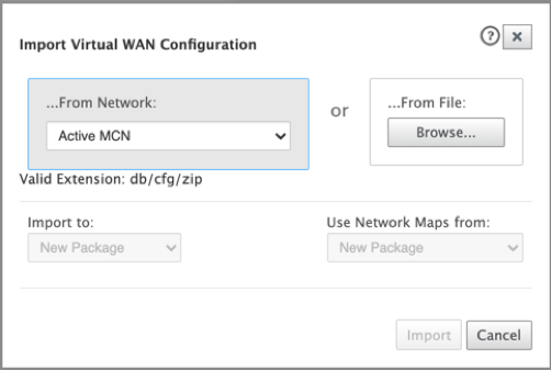 Import virtual WAN configuration