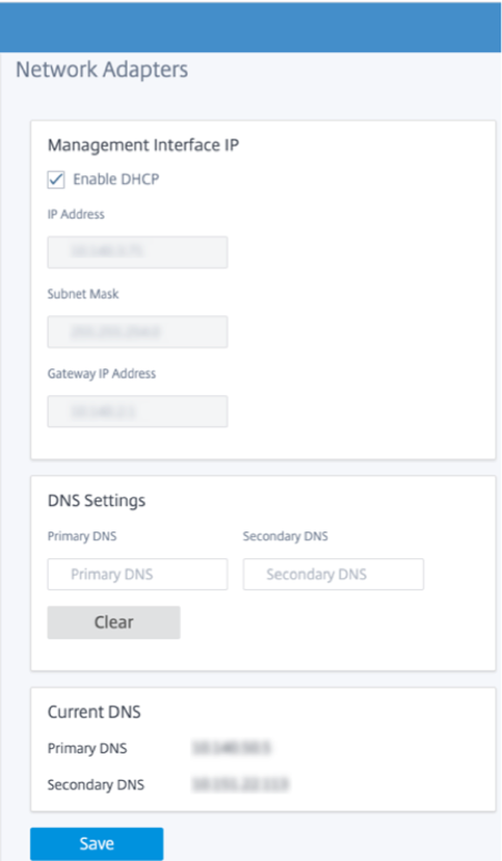 New user interface management and DNS
