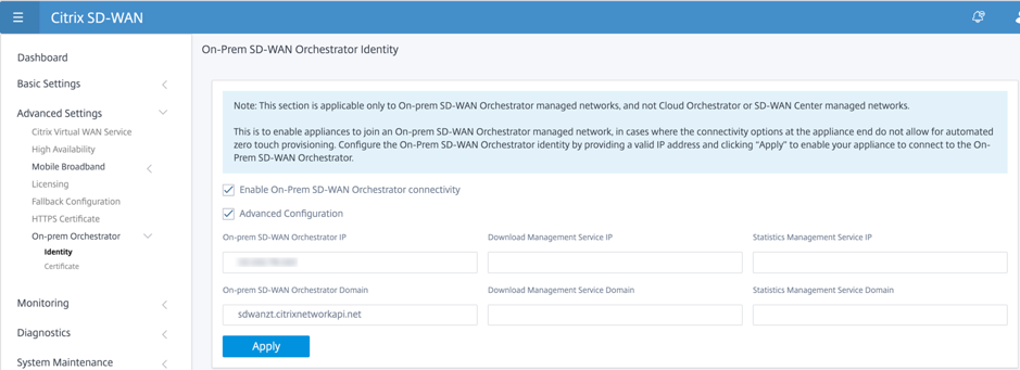 New user interface on-prem orchestrator identity