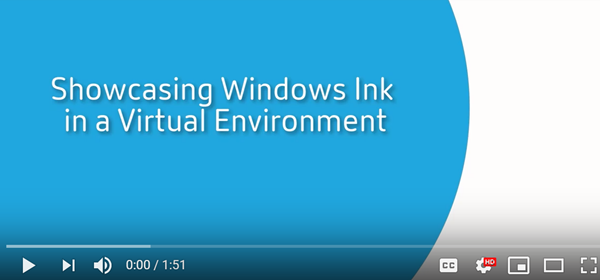 Windows Ink and pen functionality demo