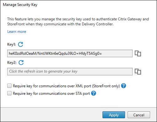 Manage Security Key wizard