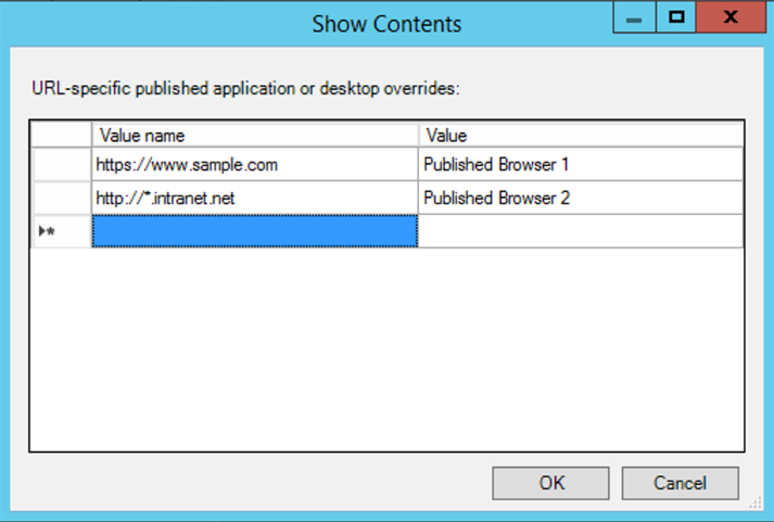 Show option in Bidirectional Content Redirection