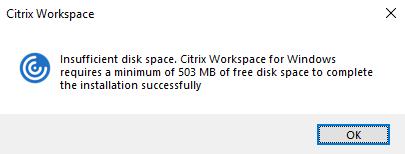 Prerequisites to install Citrix Workspace app