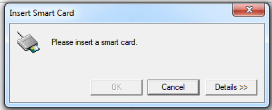 Image of inserting a smart card