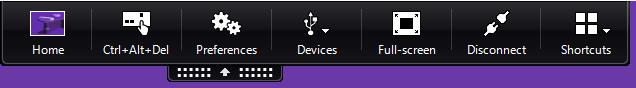 image of the devices tab in the workspace app toolbar