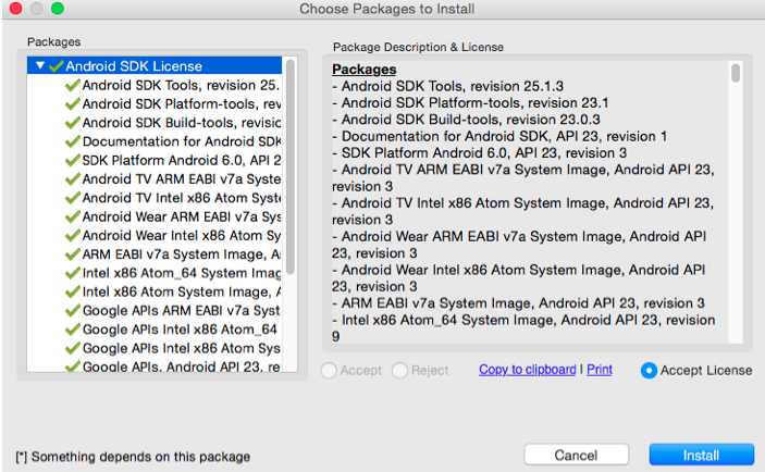 Imagen de la pantalla Choose Packages to Install