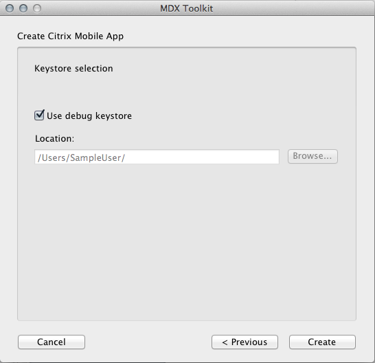 Image of the MDX Toolkit App Store URL option