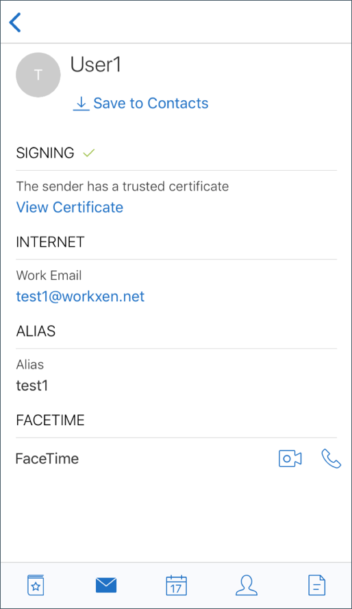 Image of a verified signed certificate