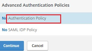 Authentication Policy