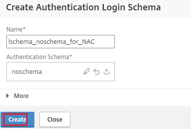 Select authentication schema