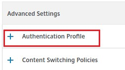 Authentication Profile