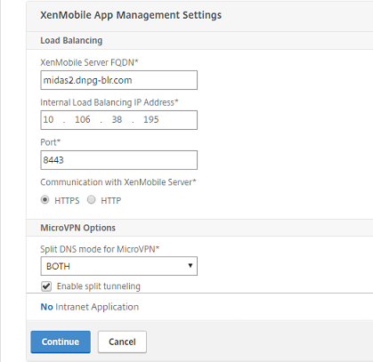 Configuring Settings for Your XenMobile Environment