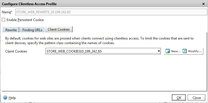 Receiver for Web Client Cookies
