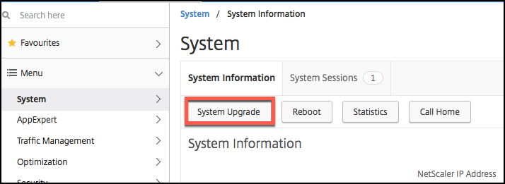Upgrade a Citrix NetScaler standalone appliance