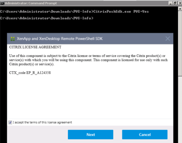 Image of License agreement