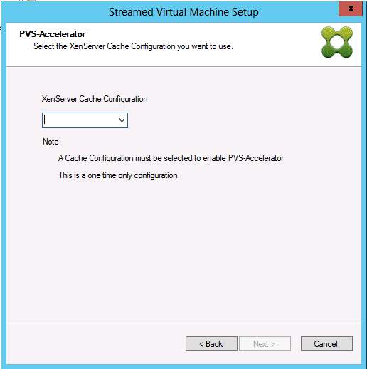 Image of the Citrix Provisioning Accelerator wizard screen