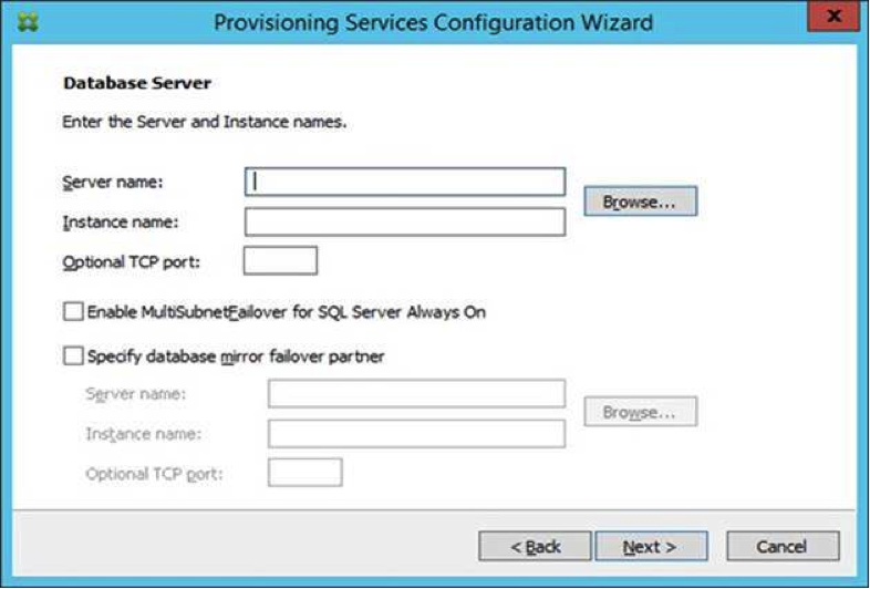 Image of the configuration wizard