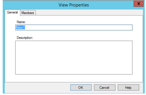 Image of the View Properties dialog box