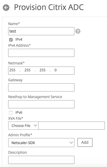 Add a Citrix ADC instance