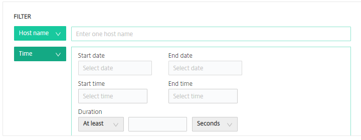 Image of adding the time filter