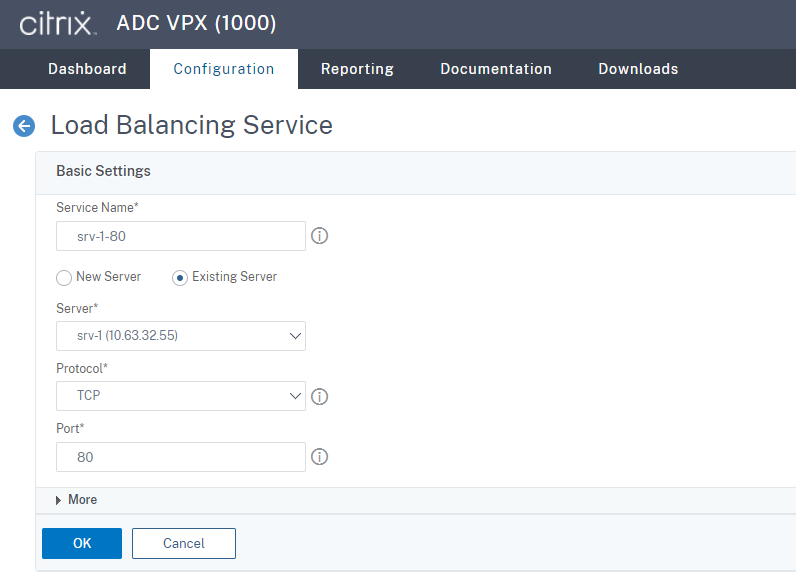 Create a load balancing service