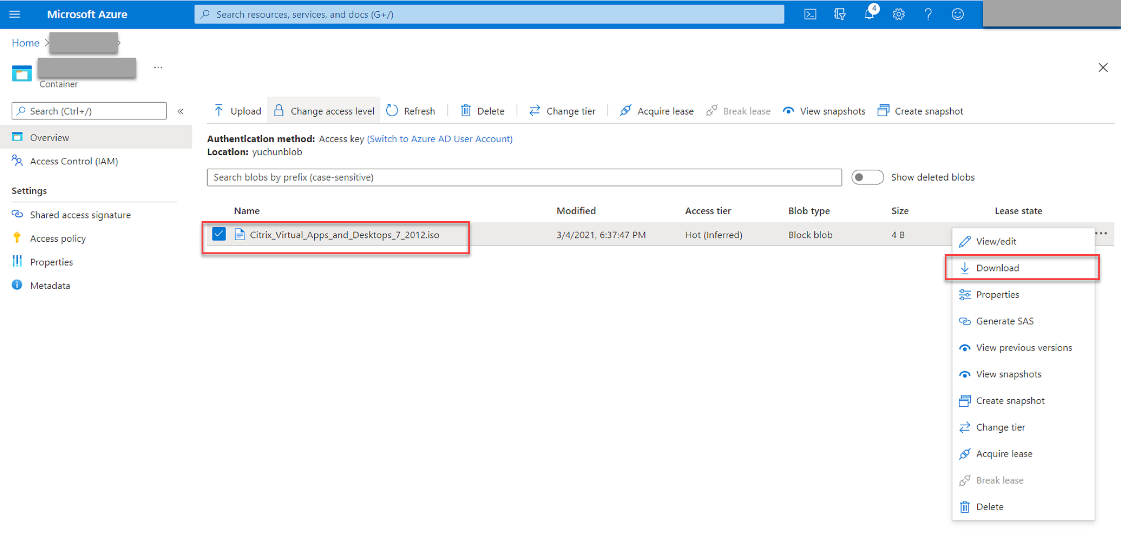 Download the installer to Azure VMs