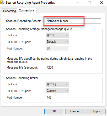Type the FQDN of your Citrix ADC VIP address