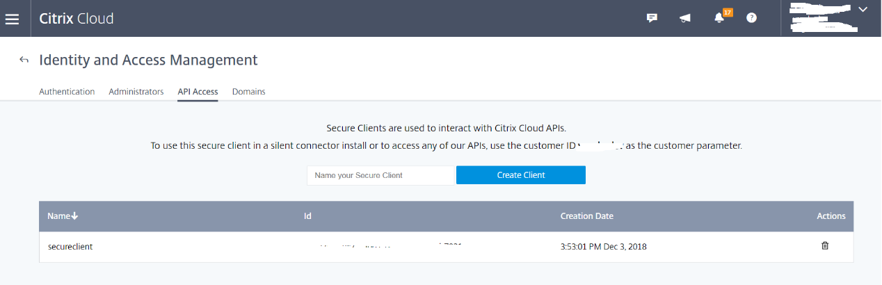 image of validating ctrix cloud credentials