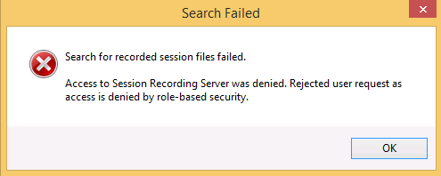 image of recording search failure