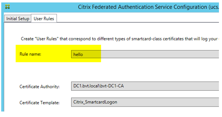 Federated Authentication Service certificate authority