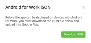 Image of the download JSON file page