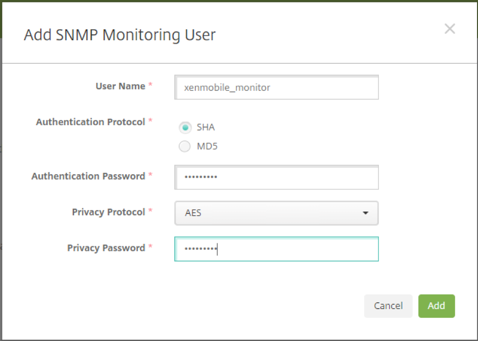 Image of SNMP Configuration