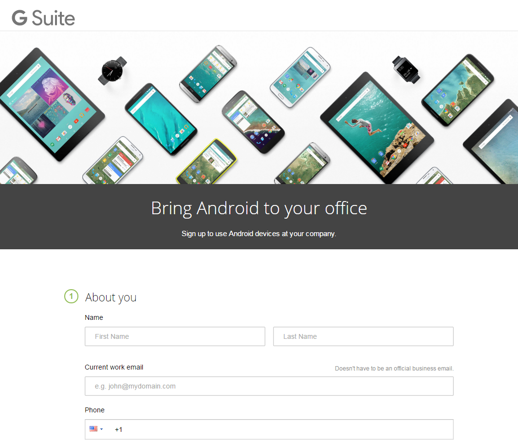 Legacy Android Enterprise for G Suite Customers