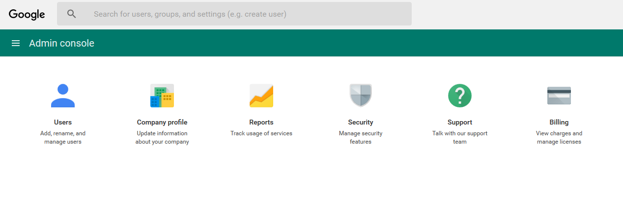 Image of the Security option
