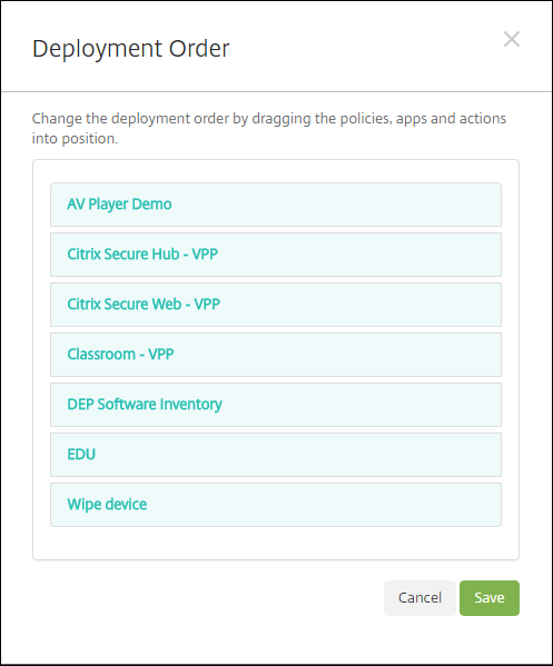 Delivery Group configuration screen