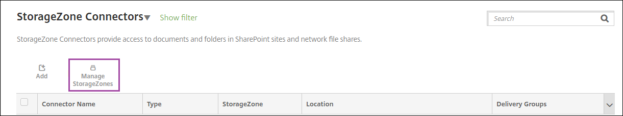 Image de la configuration de ShareFile