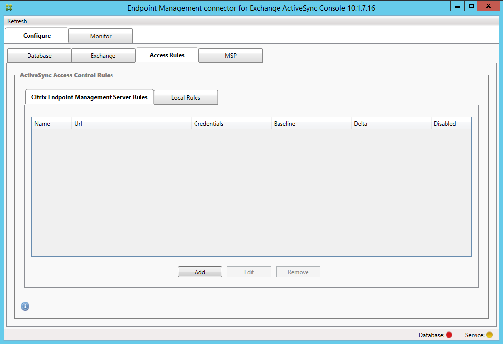 Image of Endpoint Management connector for Exchange ActiveSync rules