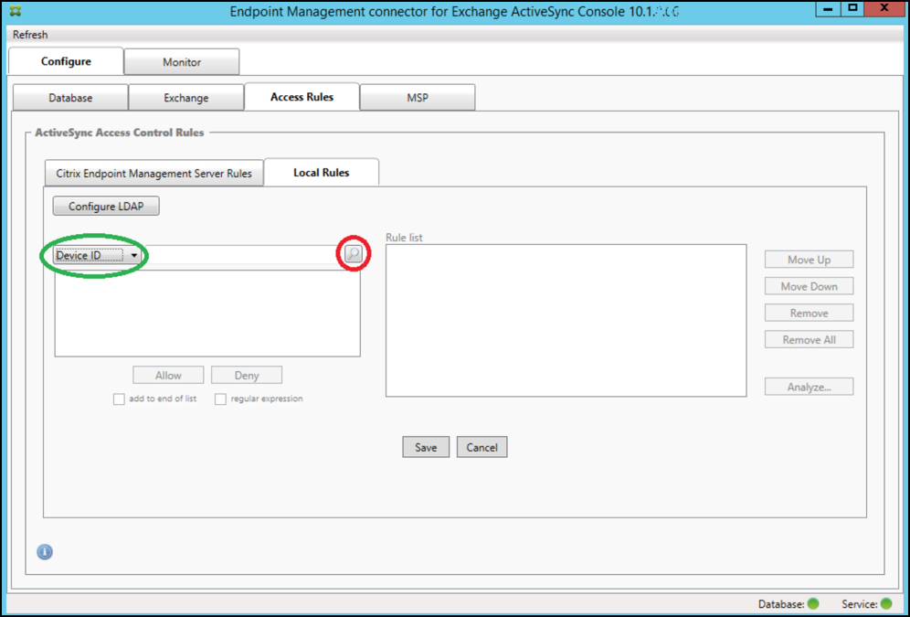 Endpoint Management connector for Exchange ActiveSync