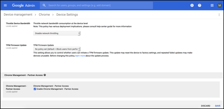 Image of Google administrator console