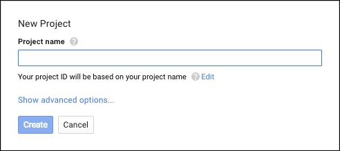 Image of the Project name option