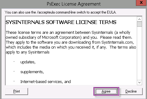 Image of PsTool license agreement
