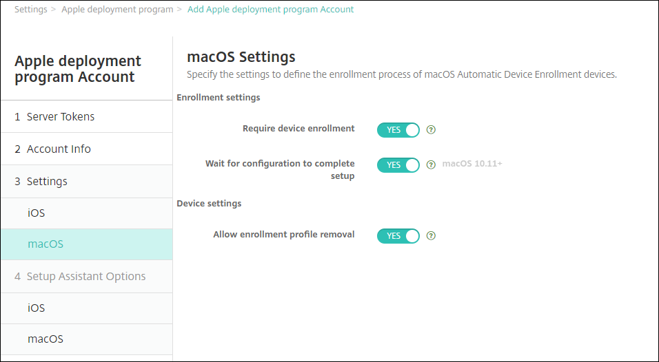 Bulk enrollment of iOS and macOS devices