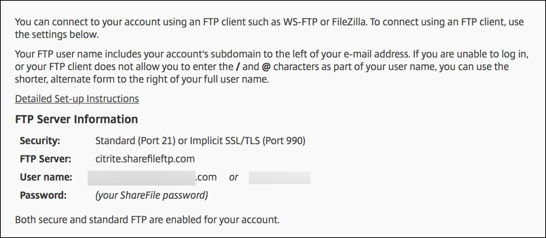 Citrix Files-FTP-Konfiguration